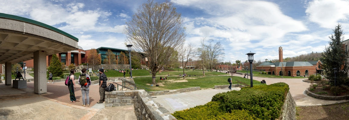 panoramic view of Appalachian State University campus